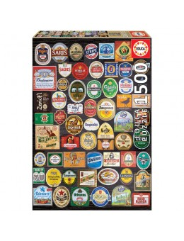 Beer Labels Collage puzzle 1500 pcs