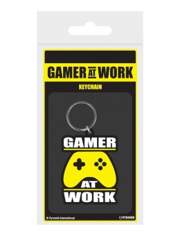 Gamer At Work Rubber Keychain Joypad...