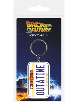 Back to the Future Rubber Keychain...