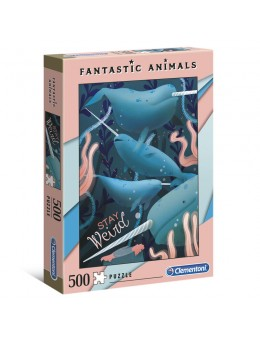 Fantastic Animals Narwhal puzzle 500pcs